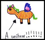 My Daughter's unibear. by BrianLabore