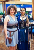 Steampunk Tardis and River Song by NBetween