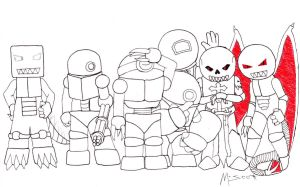 The Robots of U.N.D.O. by HypoThermus