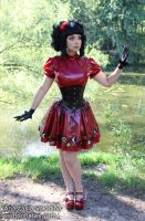 Latex gothic lolita by Violet-Spider
