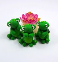 Frog Magnets by HeartshapedCreations