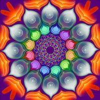 Colorful Mandala by Dedese