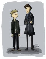 Super Simple Silly Sherlock Sketch by animegirl43
