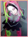 Pink and yellow raver by GrotesquePuPPyMeow