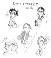 The Marauders and Lily by LadyLotte