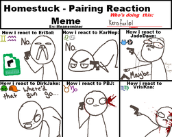 Homestuck pairing reaction meme by K3R0