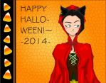 Happy Halloween!  (Bibiirotto dressed up XD) by Lala-Dello