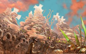 Prophets of the Ghost Ants - Cajorite Mounds by m0zch0ps