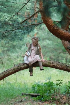 In the woods with a rabbit (8) by anastasiya-landa