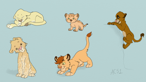 Lion Cubs- Pointables by HappyDucklings