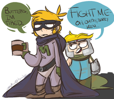 Mysterion and P.Chaos by Wendesaurus