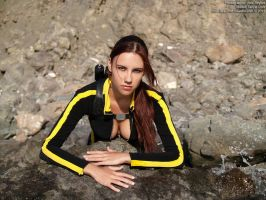 Lara Croft wetsuit - portrait by TanyaCroft