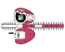 DIGIVICE D3 pinky by randyfivesix