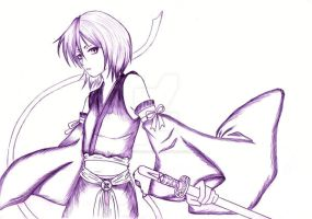 Rukia's Bankai - Just a Sketch by AngyValentine