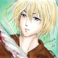 Armin Arlert again by littlemissmarikit