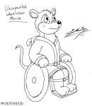 Uncapacited mouse in wheelchair! by SagaFantasticArt30