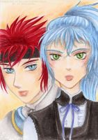 Art Trade: Sora and Mystic by Khallandra