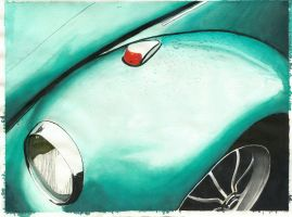 Green Beetle Color Study by tap-ioca