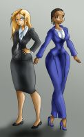 Mary Carver and Katie Green by SpiralingStaircase