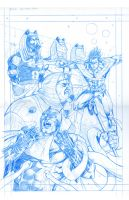 nightwing cover pencils by StevenHoward