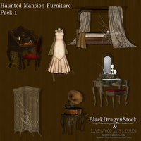 Haunted Mansion Furniture Pack 1 by BlackDragynStock