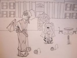 a game of Croquet by Narret