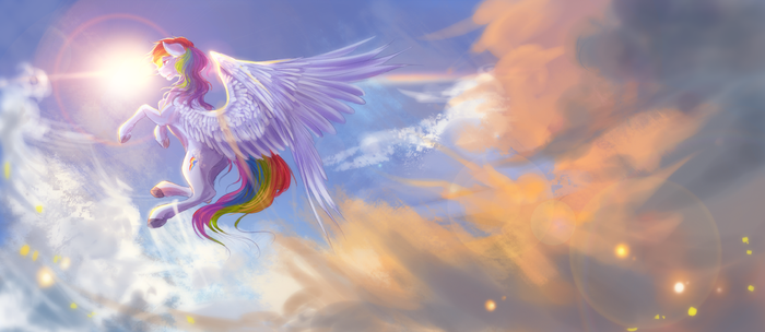Collab: Above the world by AquaGalaxy