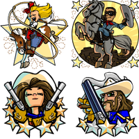 Bang Howdy Badges by Nemodemos