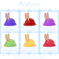 Bunbon Adoptables - Set 4 *THEMED SET* - CLOSED by Kiwicide