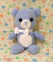 blue teddy bear by VML1212