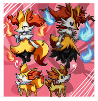 PKMNation :: Braixens! by FENNEKlNS