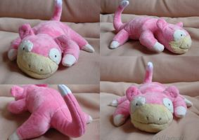 Slowpoke plushie (for sale!) by MedeiaDesigns