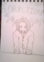 Young Edgeworth Sketch by DalekWithAKeyblade