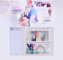 Ordered layout- Serenay Sarikaya by Nicol1071
