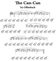 CanCan tab, 12 hole ocarina by LittleCatkin