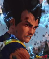 Realistic Vegeta by Kimonas