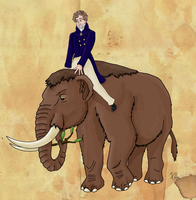 Georges Cuvier and his Mastodon by Pelycosaur24