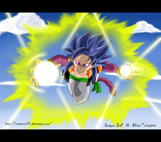 Bran ssj 4 Attack by Metamine10
