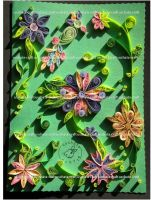 Quilling - B-day Card by Eti-chan