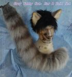 Grey Tabby Ear and Tail Set by Beetlecat