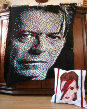 Middle part of David Bowie-blanket by Schleichgirl1976