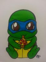 teenage chibi turtle by Pradaninja