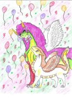 Birthday pic Erafine by dragonrace