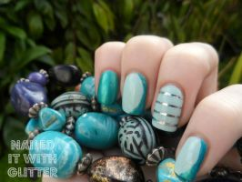 Striping Tape Teal by NailedItWithGlitter