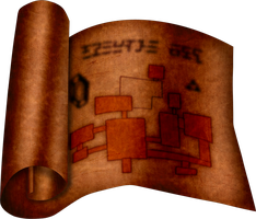 OOT Dungeon Map by BLUEamnesiac