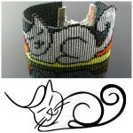 Bead loomed Petcat bracelet - A HeatherCat by CatsWire