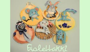 Pokemon HANDMADE polymer clay Charms by XDElisabeth69