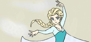 Frozen Elsa Drawing by Necrophilliacness