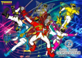 Senjo Sentai GOCHOUGER wallpaper version by thunderyo