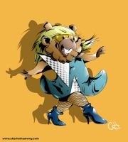 Lady Gaga Bidoof by mrstupes